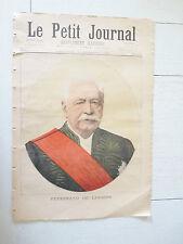 PETIT JOURNAL 1894 FERDINAND DE LESSEPS / REVOLTE ANARCHISTES EN GUYANE BAGNE