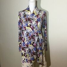 Anthropologie Guinevere Womens Size XSmall Bramble Waves Floral Cardigan Jacket