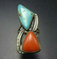 Zuni Wayne Cheama Native American 2-12 Belt Buckle Sterling Silver Turquoise Red Coral Feather Signed Wayne C
