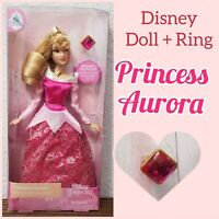 "Disney Parks Princess Aurora Classic 11.5"" Dolls With Rings Sleeping Beauty"