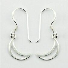 USA Seller Moon Dangle Hook Earrings Sterling Silver 925 Bestseller Jewelry