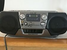 Sony CFD-V17 CD Cassette Player Recorder AM/FM Radio Boombox With Mega Bass Port