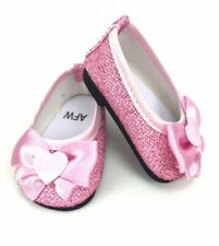 Shoes Glitter Dress Pink For 18 in American Girl Doll  Accessories Clothes