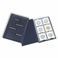 Álbum de bolsillo para monedas con 10 hojas, cada una para 6 cartones de monedas