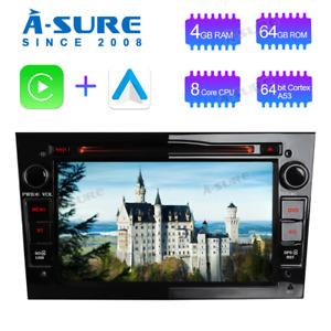 64GB Android 10.0 GPS Navi Radio DVD OPEL Zafira B Vivaro Vectra Corsa Meriva