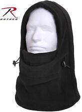 Black Double Fleece Layer 3-In-1 Winter Balaclava, Neck Gaitor & Face Mask