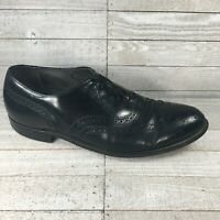 Vintage Hanover MasterFlex Mens Size 13 D Black Leather Wingtips Dress Shoes USA