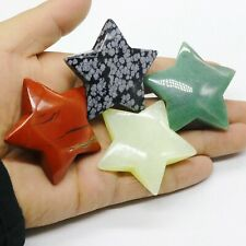 133g 4 piece  Natural tour kinds of stone hand-carved star shape e39