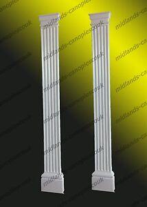 2 x GRP Fibreglass Door Surround Pillars Pillasters Porch Entrance Column