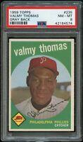 1959 Topps BB Card #235 Valmy Thomas Philadelphia Phillies PSA NM-MT 8 !!