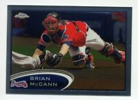 2012 Topps Chrome BRIAN McCANN Rare BASEBALL CARD #9 Atlanta Braves