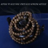 Genuine Natural Wild Nha Trang Agarwood 8mm 108 Buddhism MALA Prayer beads #652