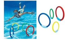 4 x Weighted Underwater Dive Rings Swimming Pool