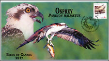 Ca17-040, 2017, Birds of Canada, Osprey, Day of Issue, Fdc