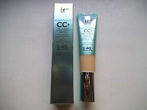 IT Cosmetics CC+ Cream Oil-Free Matte with SPF 40 FAIR 1.08 oz / 32 ml NIB