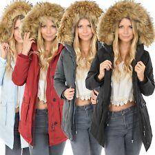Femmes Designer Veste D/'Hiver Parka Natural Fausse Fourrure Chaud Outdoor blogueurs 17140