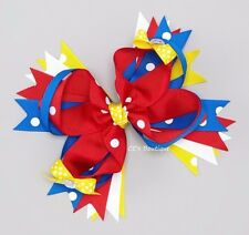 Girls BOUTIQUE hair bow NEW red blue white yellow Snow White school Wonder Woman