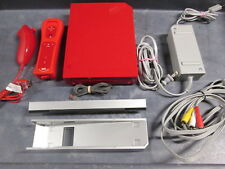 Wii Console Bundle Red Model RVL-001 Very Good 2848