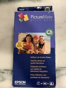 Epson PictureMate PrintPack 100 Photo Sheets & T5570 Ink Cartridge Exp 2007
