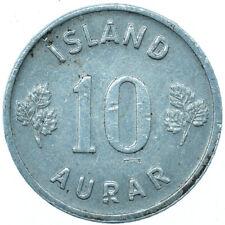COIN / ICELAND / ISLAND / 10 AURAR 1973 BEAUTIFUL COLLECTIBLE   #WT31589