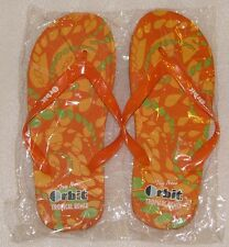NEW Men's Orange Flip Flops Sandals Orbit Tropical Remix Size Medium US NIP