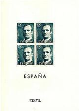 España Hojas Edifil bloque 4 crema montado blanco año 1981-91 (BF-434)