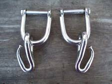 "Pinery Hook Logging Tugs Traces Stainless Steel 2"" Lot of 2"