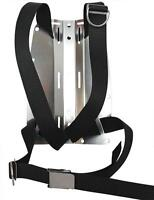 Red Hat Diving. DIR type harness and aluminium backplate. includes crotchstrap.