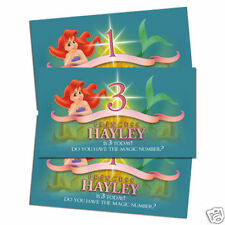 10 The Little Mermaid Personalized Birthday Party Favor Scratch Off Ticket Games