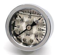 La pressione dell'olio MANOMETRO la pressione dell'olio visualizzazione ARGENTO olio per HD Harley Davidson Hot Rod Custom