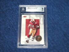 KEVAN BARLOW 49ERS PITTSBURGH 2001 FLEER AUTHORITY RC #132 BGS 9 MINT (18GR2)