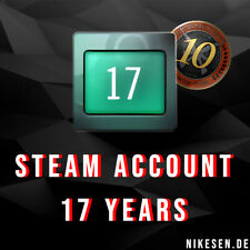 STEAM ACCOUNT OLD - 2003 - 6-7 Digit - 17 Years -CSGO 5 & 10 Year Coin - E-Mail