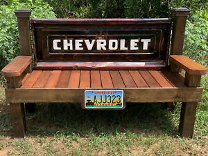 Vintage Cheverolet tailgate bench
