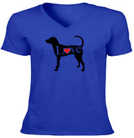 Love American Foxhound English Hound Cute Unisex Mens Women Tee T-Shirt Funny