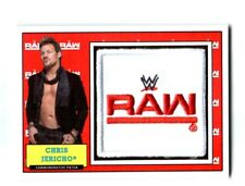WWE Chris Jericho 2017 Topps Heritage Raw Com Patch Relic Card SN 189 of 299