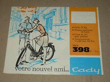 Prospectus Cyclomoteur MOTOBECANE Cady   Non daté   brochure catalogue prospekt