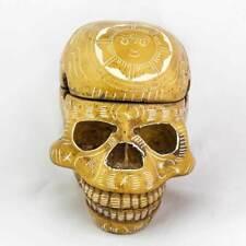 3 Piece Trinket Box Skull Ashtray - Ivory Carving