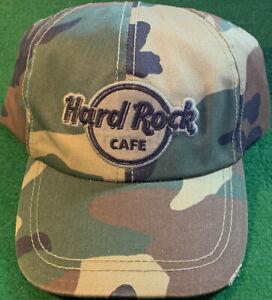 Hard Rock Cafe HOLLYWOOD Universal Studios CAMO CAMOUFLAGE Baseball HAT New+Tags