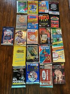 mixed lot of 21 Assorted Wax packs Sports Cards Unopened. Baseball Football Etc