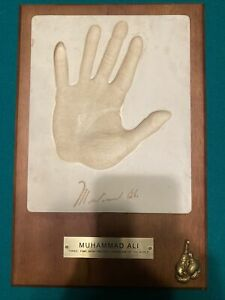 Muhammad Ali Handprint Plaque