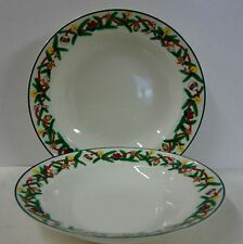 Sakura CHRISTMAS CHEER Y705 Rim Soup Bowls SOLD IN PAIRS Multiple Available