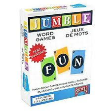 Bicycle Jumble Word Games Playing Cards 2 decks word meld solitaire family night