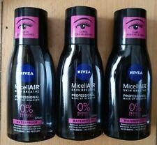 3 x Nivea Micellair Professional Waterproof Eye Make-Up Remover 125ml