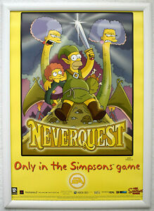 The Simpsons Game RARE PS2 Wii 42cm x 59cm Promotional Poster #1