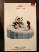 Hallmark 2019 Frosty Friends 40th Anniversary Keepsake Christmas Ornament NIB