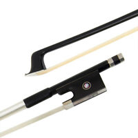 Professional 4/4 Full Size Violin Bow Fiddle Parts Carbon Fiber Horse Hair Black