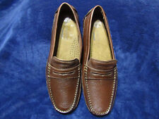 Rockport Oaklawn Park Penny Driver Dark Brown Leather shoes mens Size 10.5 New