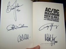 """AC DC FULLY SIGNED """"MAXIMUM ROCK & ROLL"""" BOOK X5 FULL COA """"REAL"""" ROGER EPPERSON"""