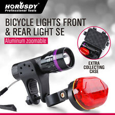 LED Bike Bicycle Front Head Light Safety Lamp Rear Tail Flashlight Safety Torch