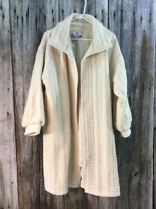 Vintage Irish made wool knit coat sweater